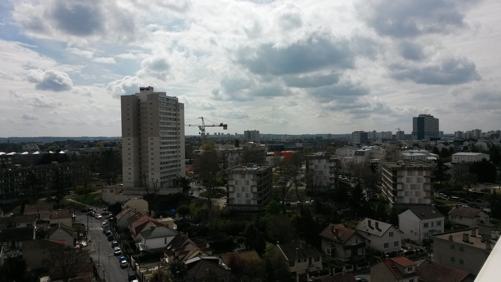 Créteil depuis notre fenêtre - 09 avril 16